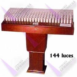 Lampadario Madera 144 Luces Led