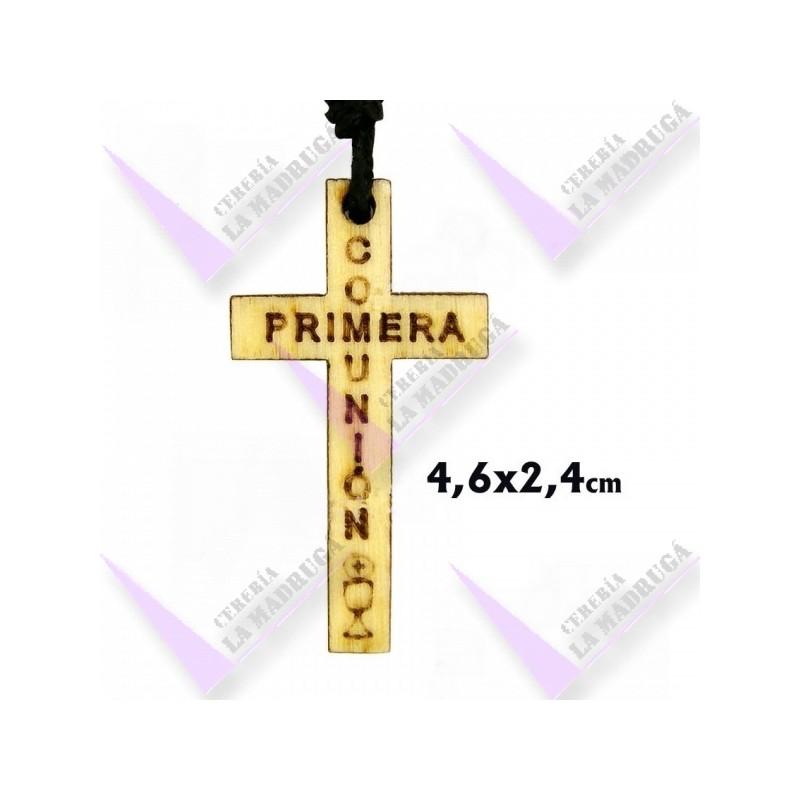 7ea94f63924 Cruz madera grabada primera comunion 46x24mm - Cereria la Madrugá