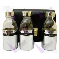 Crismera Estuche 3 Botellas 125cc Con Metal N37