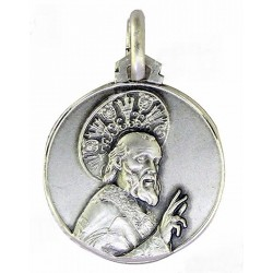 Medalla Plata 18mm Santa Lucia